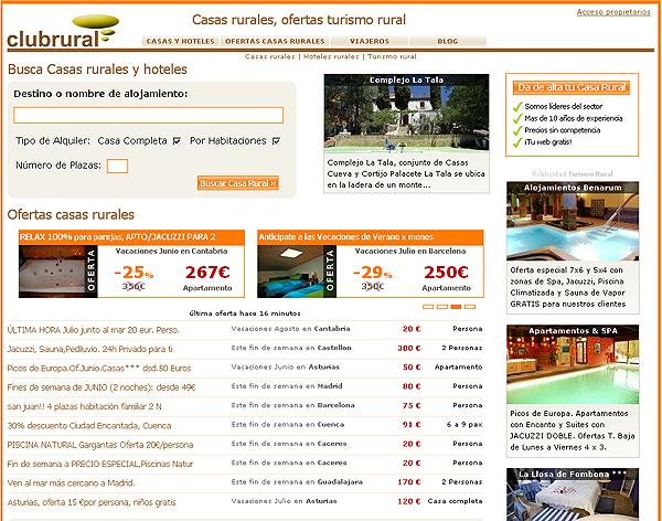 Clubrural homepage