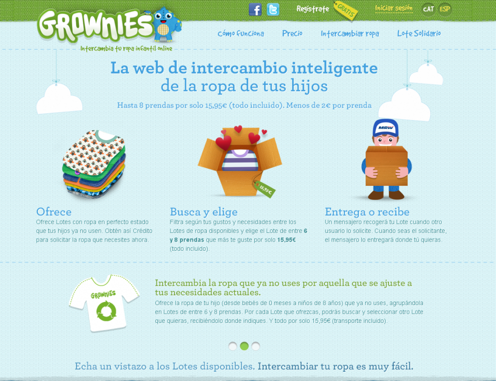 Grownies Intercambio de ropa infantil